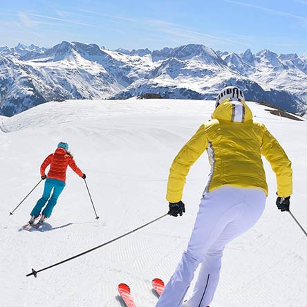 Skiing in Lech-Zürs